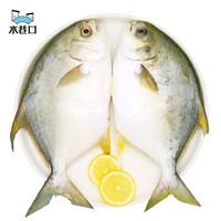 水巷口 国产冷冻金鲳鱼 700g/2条 *7件
