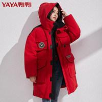 双11预售:YAY 鸭鸭 DRA06B1120 工装羽绒服中长款