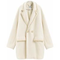范思蓝恩 Z95015 女士宽松中长款呢子大衣