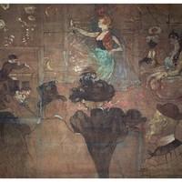 艺术品:人物油画《舞者》罗特列克 背景墙装饰画挂画 典雅栗(偏金色) 101×106cm