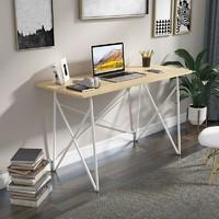 亿家达 简易电脑桌 北美原木纹+白色