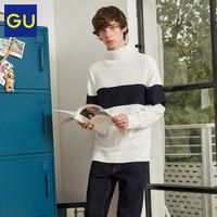 限尺码:GU 极优 319674 男士高领针织衫
