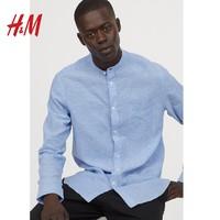 1日0点:H&M 0740425 男装亚麻衬衫