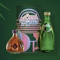 PERRIER 巴黎水 法式果酱嗨棒鸡尾酒套装(矿泉水330ml+拿破仑XO50ml+樱桃酱30g)