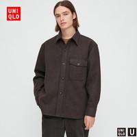 UNIQLO 优衣库 432963 男装 摇粒绒衬衫式茄克