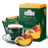 AHMAD 亚曼 蜜桃百香果味红茶+芒果味红茶 2g*40包