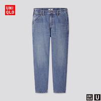 UNIQLO 优衣库 UQ430607000 男装宽腿窄口牛仔裤
