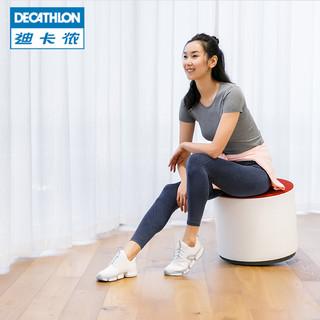 迪卡侬运动鞋女夏季透气网面轻便白色加厚休闲鞋女鞋跑步鞋feel(37、小白鞋)
