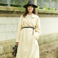 1日0点:UNIQLO 优衣库 432068 女装羊毛混纺双面呢大衣