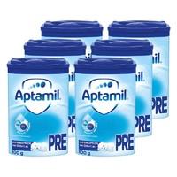 1日0点、88VIP:Aptamil  爱他美 婴幼儿奶粉 蓝罐 pre段 0-6个月 800g*6罐