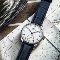 双11预售:IWC 万国 葡萄牙系列 40蓝色鳄鱼皮表带自动腕表