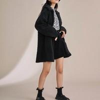 1日0点:GU 极优 GU327411000 女士绒摇粒绒大衣外套