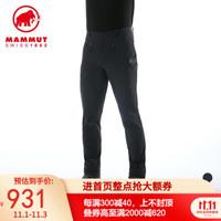 MAMMUT猛犸象Trekkers男士防风防泼水透气弹力软壳裤 黑色 S