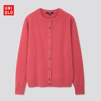 UNIQLO 优衣库 418678 女士圆领长袖羊绒开衫
