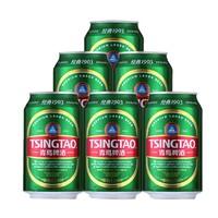 聚划算百亿补贴:TSINGTAO 青岛啤酒 经典1903易拉罐 330ml*6听