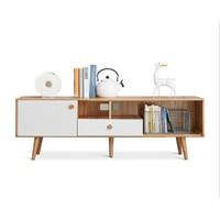 双11预售:VISAWOOD 维莎原木 F70066 全实木电视柜 1.5m