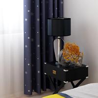 SUNPATHIE  SPCL2082 窗帘北欧风格面料卧室 料卧室 开孔式 蓝色 一米