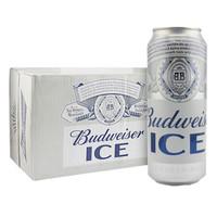 京东PLUS会员:Budweiser百威 冰啤酒 500ml*18听 整箱装 *3件