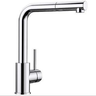 BLANCO 铂浪高 519810 Mila - S 抽拉式冷热厨房水龙头 铬/银色