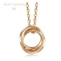 1日0点:周生生 91873N 18K红色黄金薄荷系列双圆环项链