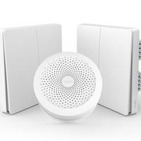 Aqara 智能灯控组合套装 网关(Apple HomeKit版)+墙壁开关(单火双键)x2