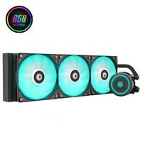 1日0点:ID-COOLING AURAFLOW X 360 RGB 一体式水冷散热器 360冷排