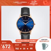 LARSLARSEN极地碳黑蓝手表男拉尔森情侣手表简约气质正品防水表龙