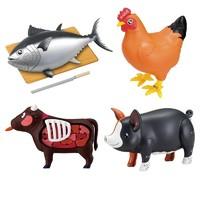 玩模总动员:Megahouse MH 3D立体拼图  猪 牛 金枪鱼 烧鸡