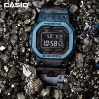 CASIO 卡西欧 G-SHOCK 金属蓝色迷彩系列 GMW-B5000TCF-2 男士运动手表