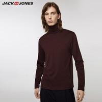 JACK JONES 杰克琼斯 219302503 男士纯棉高领打底长袖T恤