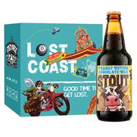 LOST COAST 迷失海岸 花生酱巧克力牛奶世涛啤酒 355ml*6瓶 *3件