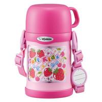 ZOJIRUSHI 象印 SC-ZT45-PA 儿童双盖保温杯配吸管  粉色 450ml *2件