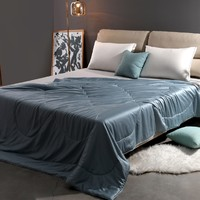 8H 静谧蓝 可水洗桑蚕丝空调被 1.5m床 300g