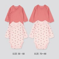 UNIQLO 优衣库 婴儿圆领长袖连体衣  2件装