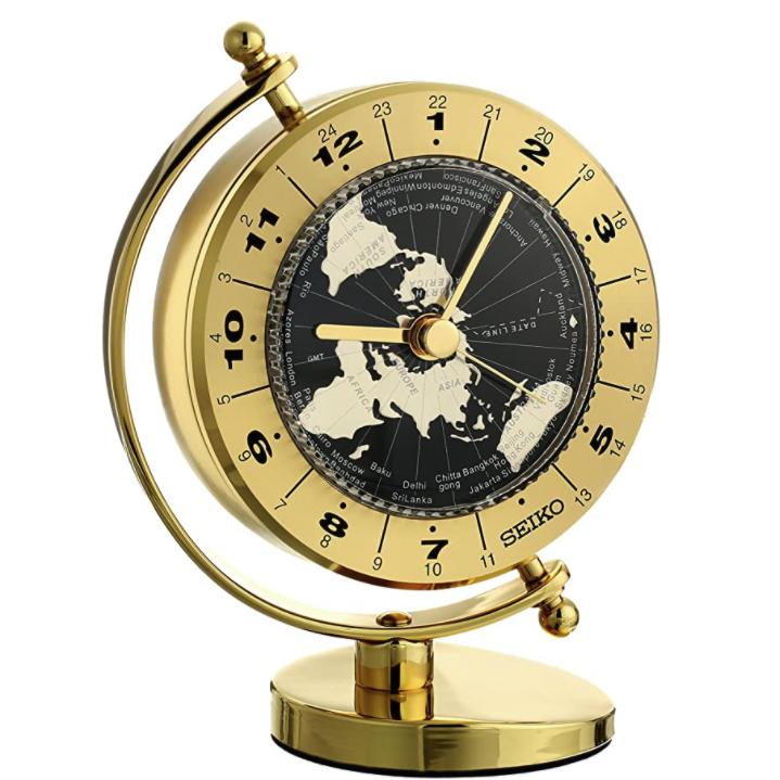 SEIKO 精工 地球儀石英座鐘