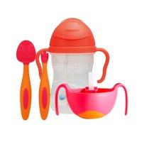 历史低价、88VIP:b.box 儿童吸管杯+三合一辅食碗+叉勺套装