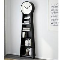 IKEA 宜家 潘朵 落地钟置物架 黑色 56*198cm