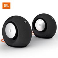 JBL Pebbles Mini WIRELESS 蓝牙版音乐蜗牛音箱 电脑笔记本小音响 PC立体声 USB供电 低音炮 2.0音响 黑色