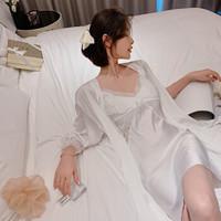 PEANOJEAN 6757 女款冰丝吊带两件套睡裙