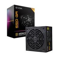 EVGA 额定650W GA电脑电源(80PLUS金牌/全模组/10年质保/DBB轴承风扇/全日系电容台式主机电源)