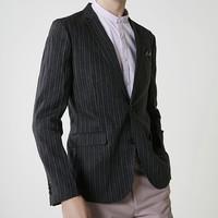11日0点:SELECTED 思莱德 419208509 纯亚麻条纹西装外套