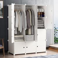 京东PLUS会员:ANERYA 安尔雅 三列四层白木纹 简易衣柜