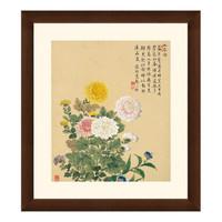 花卉国画水墨画《菊花图》邹一桂