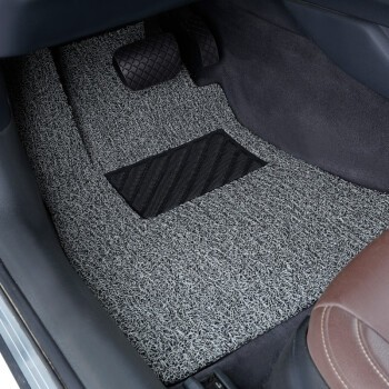 牧斯 汽車加厚絲圈腳墊 黑灰色 僅適用于奧迪A4L17-20年款