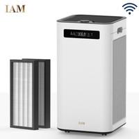 IAM空气净化器 京鱼座智能生态产品除甲醛雾霾细菌 家用办公室负离子 甲醛数显M8
