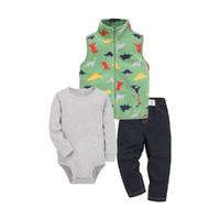 Carter's 孩特 婴儿马甲长袖爬服长裤3件套