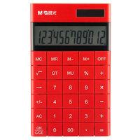 M&G 晨光 ADG98719 无缝按键计算器 双电源 红色 *3件 +凑单品