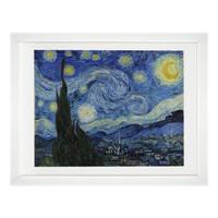 梵高《星空》艺术版画 客厅装饰画 背景墙挂画 画框尺寸55*75cm