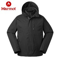 考拉海购黑卡会员:Marmot 土拨鼠 V31470 男士羽绒三合一冲锋衣