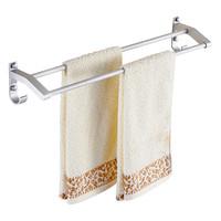 卫生间毛巾架免打孔式太空铝洗手间厕所浴室浴巾架杆卫浴五金挂件